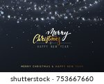 christmas background with... | Shutterstock .eps vector #753667660