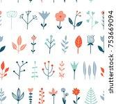 flower simple minimalistic... | Shutterstock .eps vector #753669094