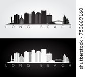 long beach usa skyline and... | Shutterstock .eps vector #753669160