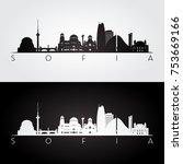 sofia skyline and landmarks... | Shutterstock .eps vector #753669166