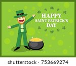 st. patrick's day card with...   Shutterstock .eps vector #753669274