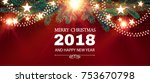 merry christmas shining... | Shutterstock .eps vector #753670798