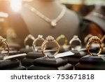 jewelry diamond rings and... | Shutterstock . vector #753671818
