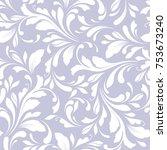 floral seamless pattern.... | Shutterstock .eps vector #753673240