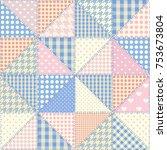 seamless background pattern.... | Shutterstock .eps vector #753673804
