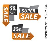 sale banner for your promotion  ... | Shutterstock .eps vector #753675856