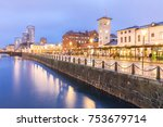 malmo cityscape downtown at... | Shutterstock . vector #753679714