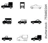 car icon set | Shutterstock .eps vector #753682264