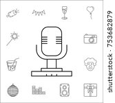 microphone icon. set of party...