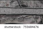 gray stone wall backgroun. | Shutterstock . vector #753684676