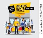 black friday sale happy family... | Shutterstock .eps vector #753687634