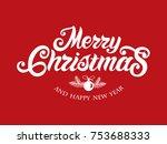 merry christmas vector text...   Shutterstock .eps vector #753688333