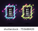 abstract colored neon banner ... | Shutterstock .eps vector #753688420