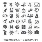 startup icons set    Shutterstock .eps vector #753689014