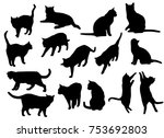 set vector silhouettes of the... | Shutterstock .eps vector #753692803
