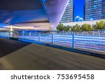 city empty traffic road with... | Shutterstock . vector #753695458