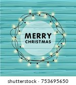 realistic christmas vector... | Shutterstock .eps vector #753695650