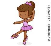 little african american ballet... | Shutterstock .eps vector #753696454