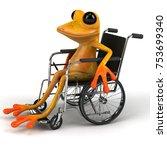 fun frog   3d illustration | Shutterstock . vector #753699340