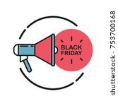 black friday promotional flat... | Shutterstock .eps vector #753700168