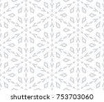 abstract geometric pattern with ... | Shutterstock .eps vector #753703060