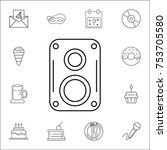 music speaker icon. set of...