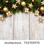 christmas holiday background  ... | Shutterstock . vector #753705970