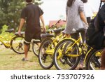 bicycle for traveller to ride... | Shutterstock . vector #753707926