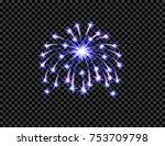 festive purple firework salute... | Shutterstock .eps vector #753709798