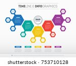 business presentation concept... | Shutterstock .eps vector #753710128