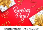 boxing day. banner with boxing... | Shutterstock .eps vector #753712219