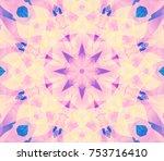 geometric kaleidoscope retro... | Shutterstock . vector #753716410