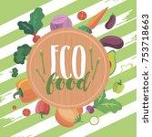 eat right motivation poster.... | Shutterstock .eps vector #753718663