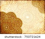 grunge background with paper... | Shutterstock . vector #753721624