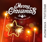 merry christmas and happy new... | Shutterstock .eps vector #753722368
