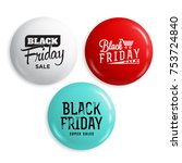 black friday sale glossy... | Shutterstock .eps vector #753724840