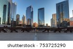 chicago skyline. chicago... | Shutterstock . vector #753725290