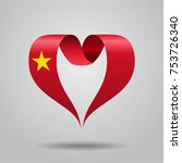 vietnamese flag heart shaped... | Shutterstock .eps vector #753726340