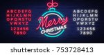 merry christmas and a happy new ... | Shutterstock .eps vector #753728413