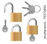 Padlock Set With Keys