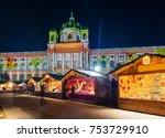 christmas market near museum... | Shutterstock . vector #753729910