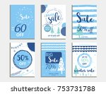 winter social media sale... | Shutterstock .eps vector #753731788