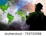 a senior natural... | Shutterstock . vector #753733588