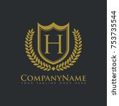 company shield royalty real... | Shutterstock .eps vector #753735544