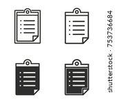 registration vector icons set....   Shutterstock .eps vector #753736684