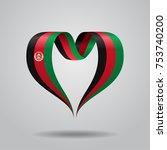 afghanistan flag heart shaped... | Shutterstock .eps vector #753740200