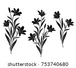 collection of silhouettes of... | Shutterstock .eps vector #753740680
