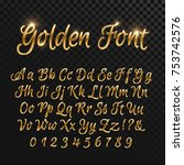 Calligraphic Golden Letters....
