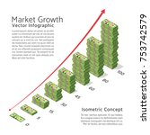 Market Growth Vector Backgroun...