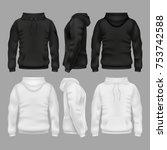 black and white blank... | Shutterstock .eps vector #753742588